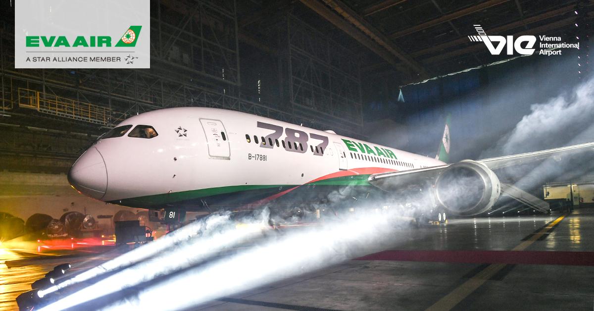 EVA Air vzlieta so svojim prvým lietadlom Boeing 787 Dreamliner