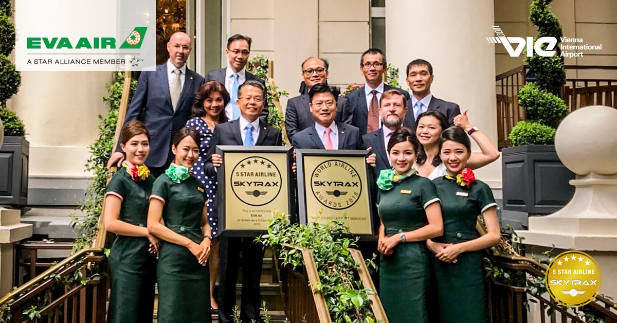EVA Air získala ocenenie SKYTRAX 5-hviezdičkovej leteckej spoločnosti tretíkrát v rade