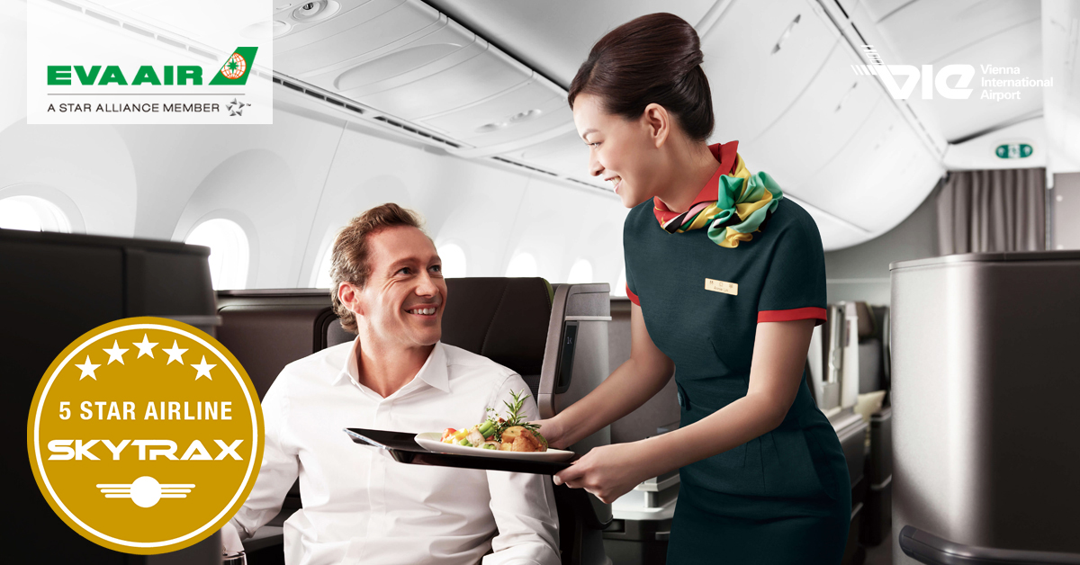 EVA Air je podľa hodnotenia SKYTRAX 5-hviezdičkovou letecekou spoločnosť už štvrtýkrát