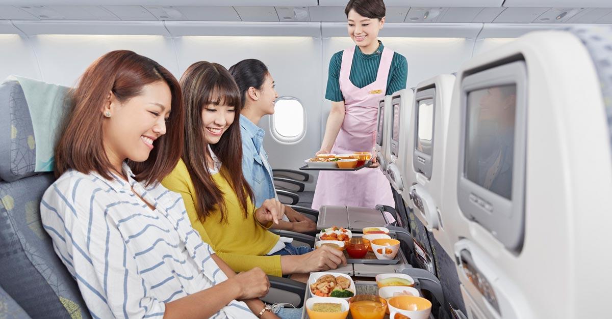 Výber sedadla a jedla